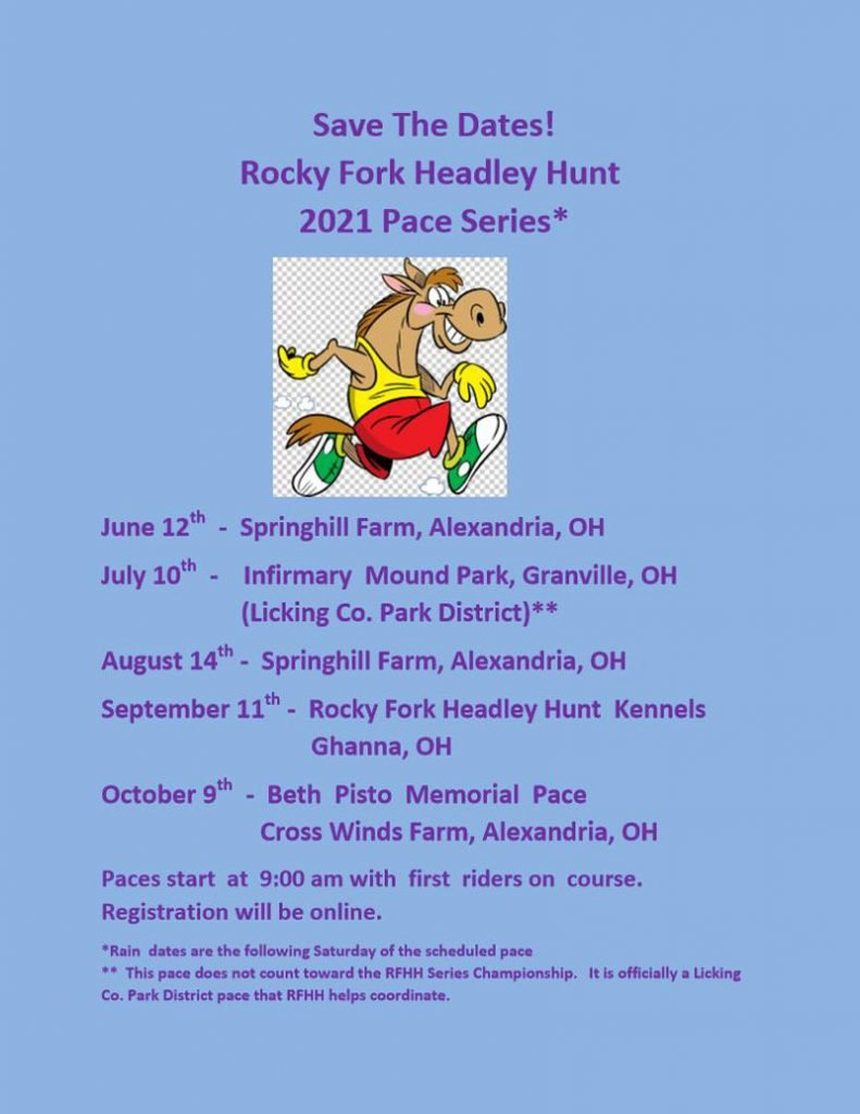 Rocky Fork Hunt Pace Dates